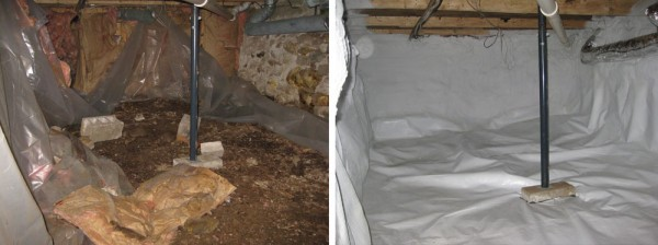Basement Encapsulation totally transforms dark, wet basements into dry, usable space.