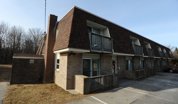 Apartments 11 and 12 in the Autumn West apartment complex at 678 Union Street in Bangor remain unoccupied on Monday after tenants were moved out due to poor air quality.