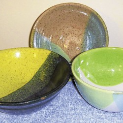 Pottery with made to order color schemes