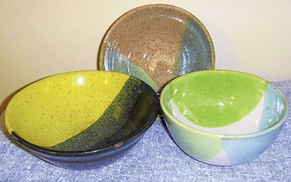 Volunteers have been making pottery bowls at the Hammond Street SEnior Center in Bangor in anticipation of the April 10 Spring Pottery Luncheon.