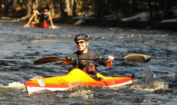Ray Wirth paddles down the St. George River Saturday during the 34th annual canoe race in Searsmont. Wirth was the over-all winner of the season opener race with the time of 41 minutes 44 seconds.