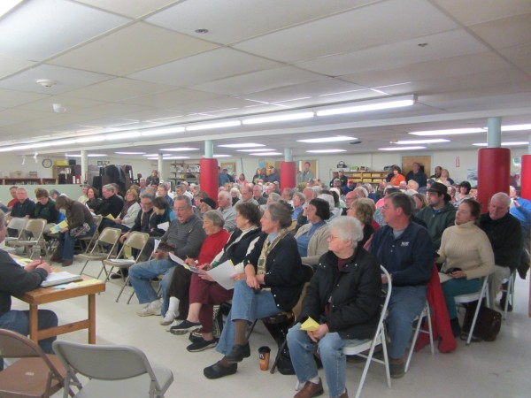 Nearly 150 South Thomaston residents turned out Tuesday night for the annual town meeting.