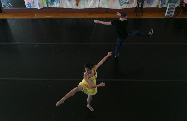 Sunny Hitt (left) and Sam Borer play star crossed-lovers Maria and Tony in the Robinson Ballet performance of &quotThe West Side.&quot