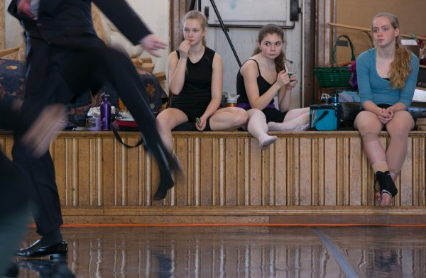 Some dancers take a lunch break while others rehearse for &quotAlex Supertramp,&quot one of four performances for Robinson Ballet LIVE.