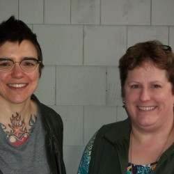 Left to right:  Youthlinks Program Director, Amie Hutchison and Five Town CTC Executive Director, Dalene Dutton