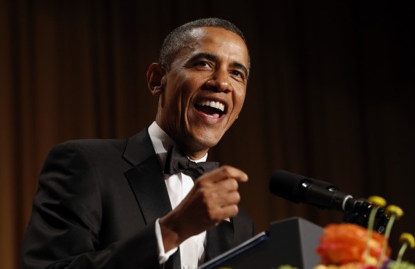 President Barack Obama speaks at the White House Correspondents Association Dinner in Washington April 27, 2013.