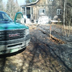 Rangers, firefighters douse runaway brush fire in Sebec