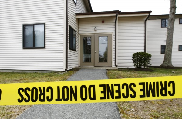 Federal crime scene investigators examine an apartment on Monday, April 22, 2013, that belonged to two men who allegedly had ties to Dzhokhar Tsarnaev.