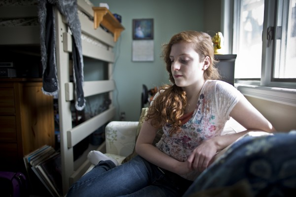 There was a time when Georgiann Steely, 16, pictured March 29, 2013, at her Rochester, Minnesota home, couldn't pick up a phone or knock on a door without her knees knocking and her palms sweating with anxiety.