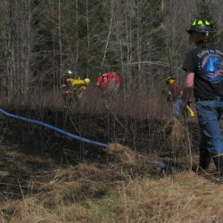 Woodstock brush fire spreads across 10 acres