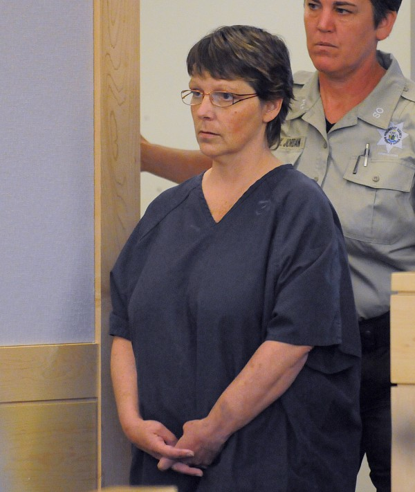 Roxanne Jeskey, 48, enters the courtroom at the Penobscot Judicial Center in Bangor for her initial appearance Friday, June 24, 2011. Jeskey is charged with the June 13, 2011, murder of her husband, Richard Jeskey.