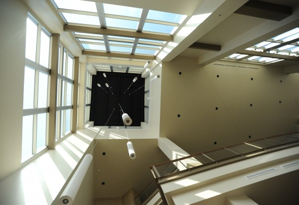 A view of the inside of the clock tower at the Cross Insurance Center in Bangor, as seen on Friday.