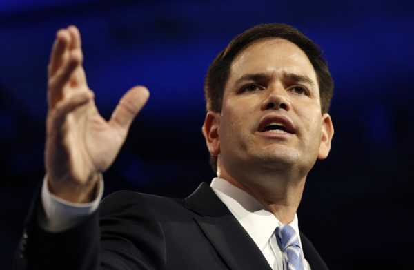 Sen. Marco Rubio of Florida speaks at the Conservative Political Action Conference in Maryland on March 14, 2013.
