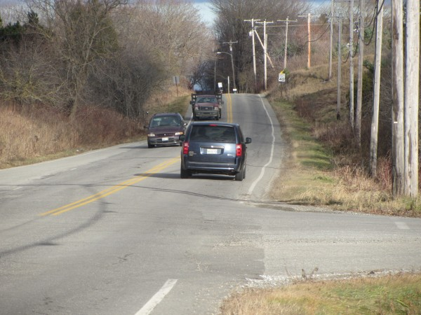 Old County Road has seen an increase in traffic and local towns want to plan for improvements that will handle additional expected traffic. This section is at the intersection of Dexter Street in Thomaston.