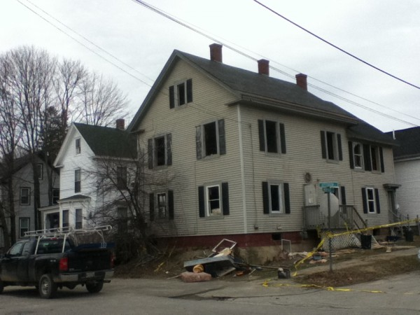 Fire officials are investigating what caused a fire at this house on Jefferson Street in Bangor early Thursday.
