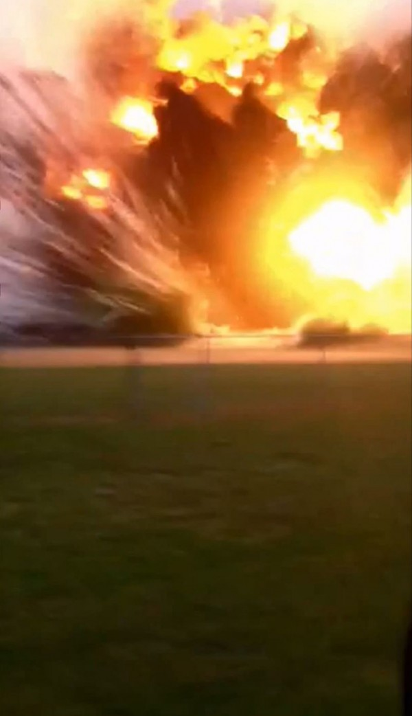 An explosion at the West Fertilizer Co. plant in West, Texas, is pictured in this still image obtained from a April 17, 2013 amateur video obtained by NBC.