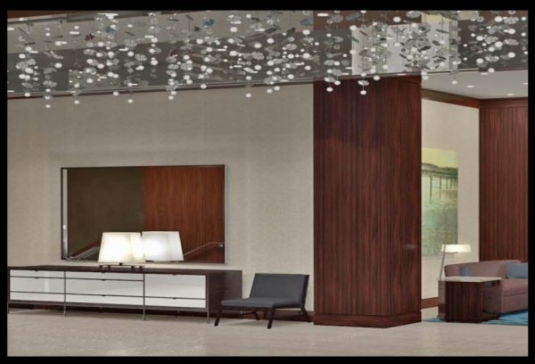 A rendering of what the new Westin Portland Harborview Hotel's lobby will look like. The style is &quotmid-century modern,&quot according to Jeffrey Cappellieri, the new hotel's area director of sales and marketing.