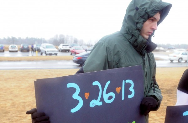Timothy McGuire, Kitty McGuire's uncle, was among the protesters at the Mount View school complex in Thorndike.
