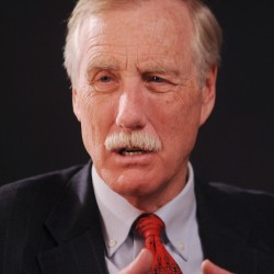 Angus King talks inflation, student debt