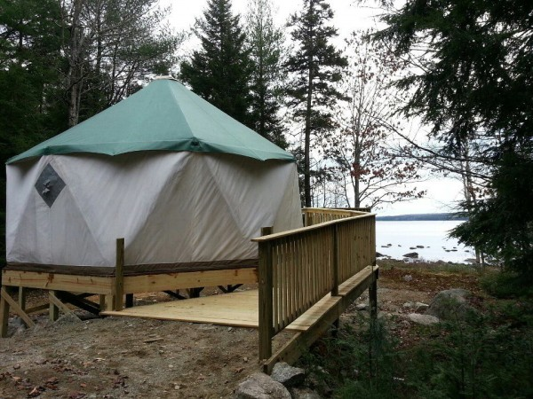 The Bangor Y purchased and erected a yurt at the Bangor YMCA Wilderness Center at Camp Jordan in Ellsworth during fall 2012, to be used for outdoor programming and events. The yurt, located at the edge of Branch Lake, is surrounded by a custom-made porch that is wheelchair accessible.