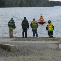 Car removed from Long Pond on Mount Desert Island