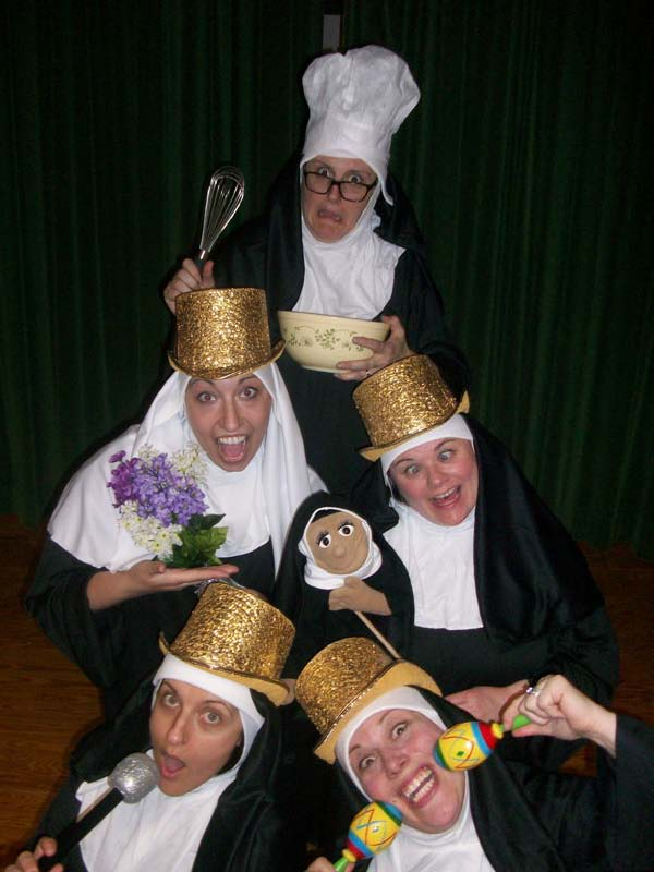 The cast of Winterport Open Stage's &quotNunsense,&quot which opens April 19 at Wagner Middle School in Winterport.