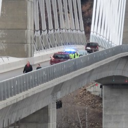 Rev. Carlson counseled woman who wanted to jump from same bridge