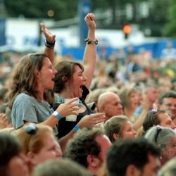 Fans cheer for Big Head Todd at the Waterfront Concerts event featuring Cracker, Big Head Todd & the Monsters, Blues Traveler and Barenaked Ladies last year in Bangor.