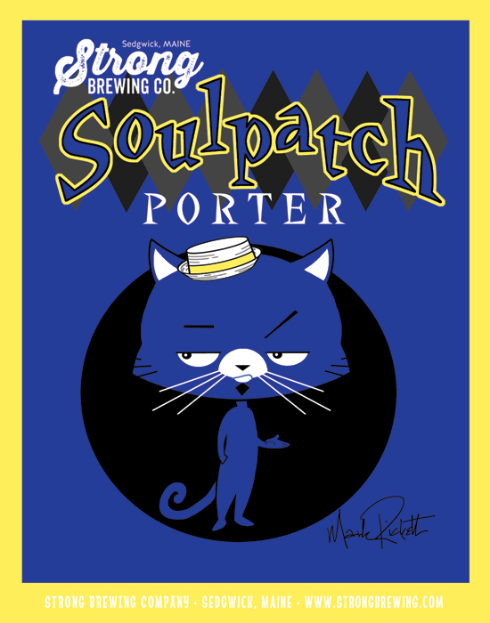 Soulpatch, a porter named for Al and Mia Strong's cat, brewed by Strong Brewing Co. in Sedgwick.