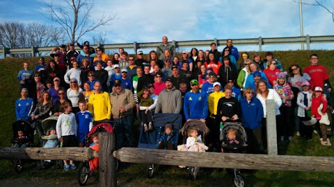 Approximately 70 people took part in #BostonStrongGardiner on Monday in Gardiner, a running event held to honor victims of the Boston Marathon bombings and reinforce the spirit of runners worldwide.