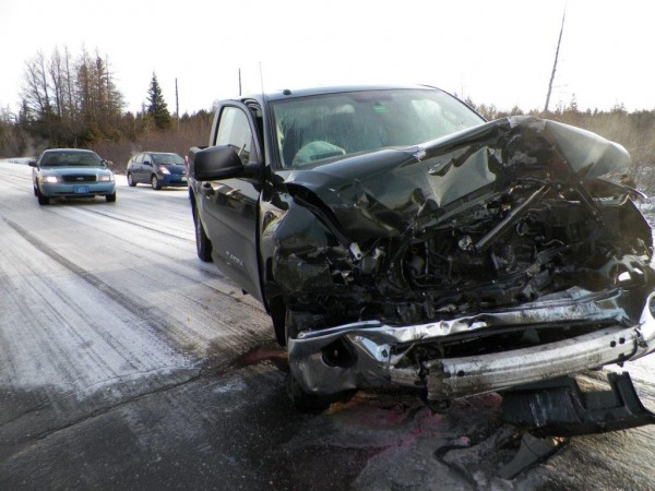 Two Frenchville men were taken to The Aroostook Medical Center in Presque Isle with non life-threatening injuries Wednesday morning following a two-vehicle crash on Route 1.