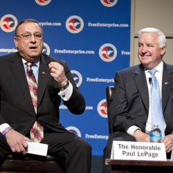 LePage vows to go to bat for businesses at Ellsworth trade show