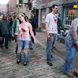 250 zombies stumble through Bangor during third annual event