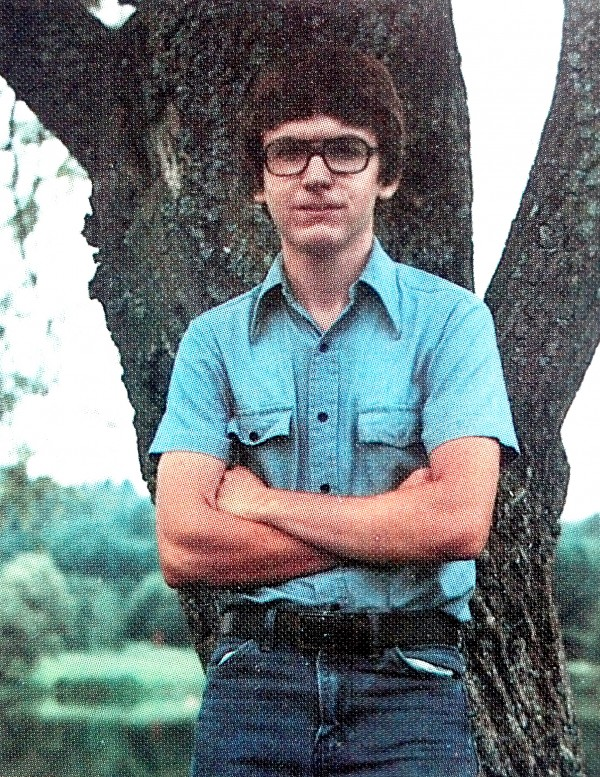 The 1984 Lawrence High School yearbook shows Christopher Knight, the North Pond hermit, in the years just before he alledgedly left to live alone in the woods. The yearbook, which was found at the Lawrence Public Library states that his future plans were to become a computer technician and that his nickname was &quotKnight&quot.