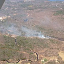 Fast-moving woods fire burns 20 acres in Lewiston