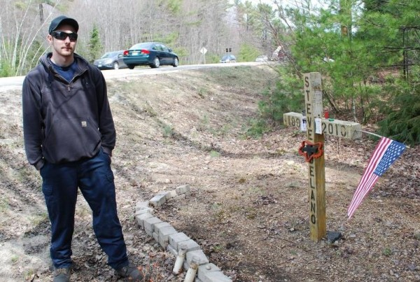 Scarborough resident Kevin Grondin was with his best friend, Steven Delano, and their prom dates when Delano's car was hit by a truck on Payne Road in Scarborough on May 8, 2010. Delano was killed, and the crash site is now a memorial maintained by Grondin.