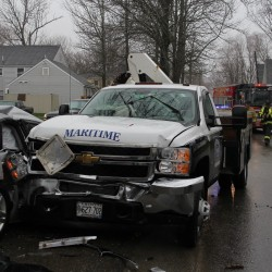 Two injured in Rockland car crash