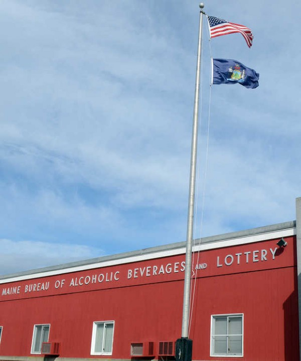 Maine Bureau of Alcoholic Beverages and Lottery building in Hallowell.
