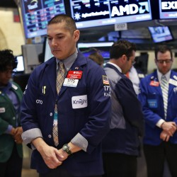 Stocks end longest run in eight years