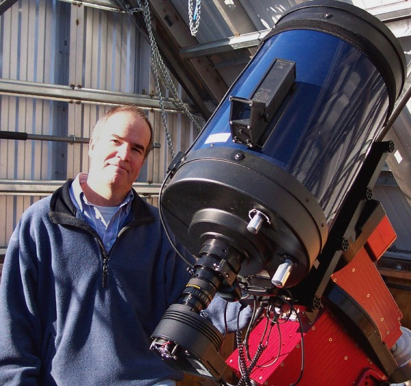 Doug Rich of Hampden heads up a team of amateur astronomers who earlier this month discovered an exploding star within a galaxy that is 420 million light years from Earth. The team's discovery was confirmed by a team of professional astronomers in Italy.