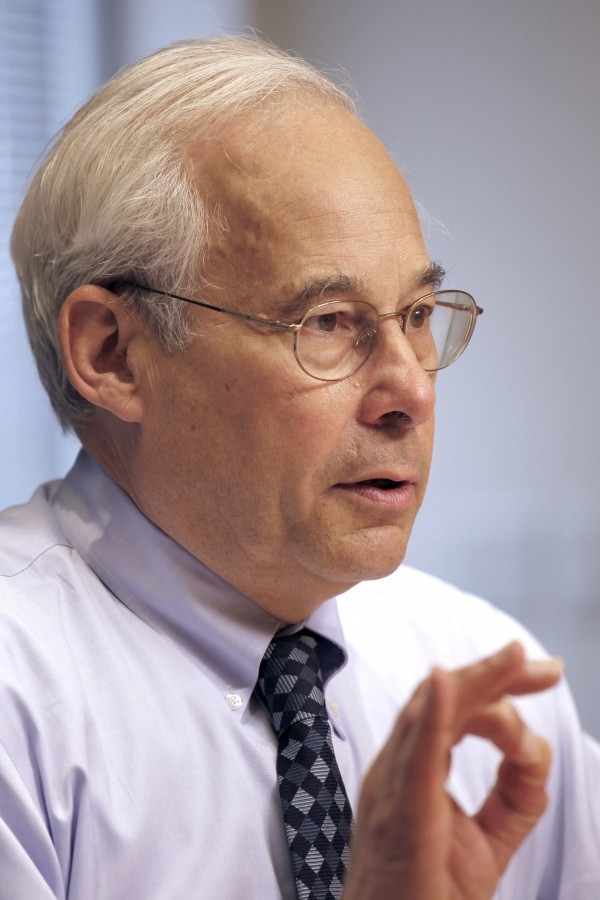 In this April 12, 2011 file photo, Medicare Administrator Dr. Donald Berwick answers questions during an interview at the Associated Press in Washington.