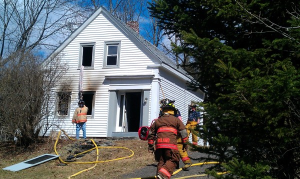 Bucksport and other area fire departments fought a house fire at 1739 River Road in Bucksport around 1 p.m. Monday. Nobody was home at the time of the blaze, and firefighters were able to quickly extinguish the flames.