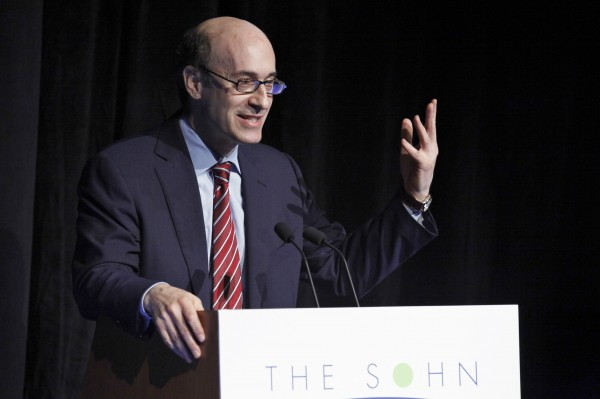 Harvard Professor and Economist Kenneth Rogoff speaks during the Sohn Investment Conference in New York in this May 16, 2012, file photo. A study released April 17, 2013, by University of Massachusetts researchers indicates that a 2008 paper by Rogoff and fellow Harvard economist Carmen Reinhart -- one that has been widely cited as a rationale for worldwide government austerity measures -- may have been incorrect in its conclusions due in part to spreadsheet coding errors.