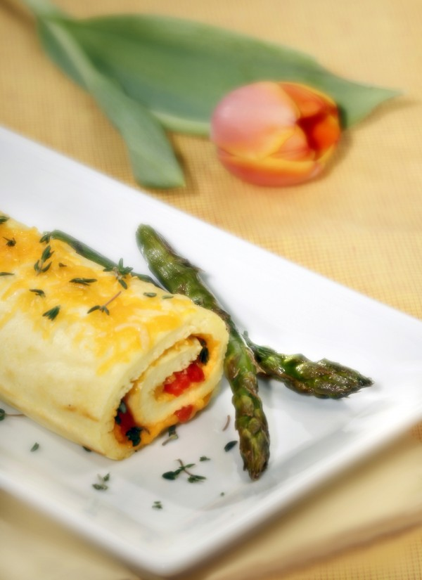 Spring brings new ingredients to the table bursting with flavor and bright colors, including a roulade that can be filled with almost anything the cook can imagine, as well as fresh asparagus.