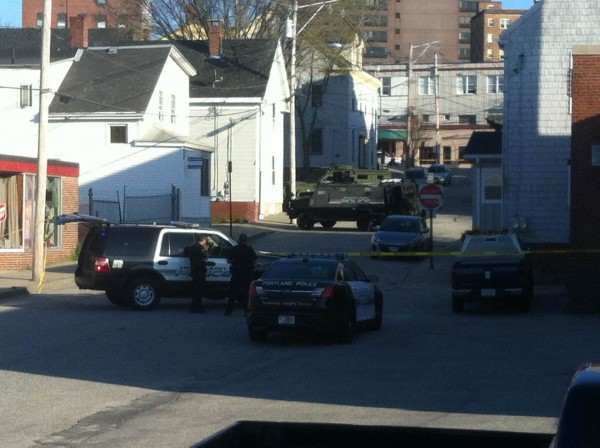 The Portland Police Department''s special reaction team and a negotiator were at a duplex at 41 Alder St., where a man has barricaded himself inside one of the units, the police chief has confirmed.