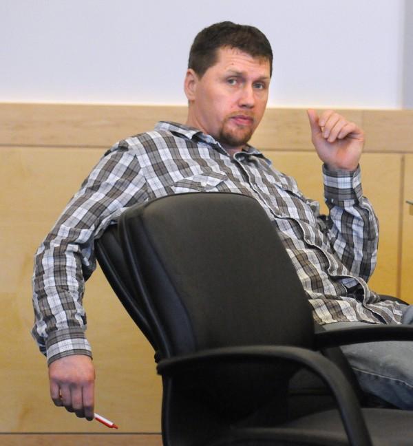 Michael Chapman during his trial at the Penobscot Judicial Center in Bangor Monday.