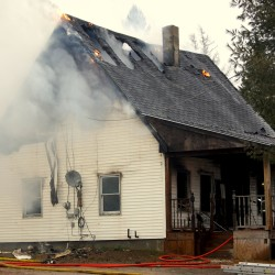 A fire Tuesday morning heavily damaged an 1850s farmhouse on Indian River Road in Addison.