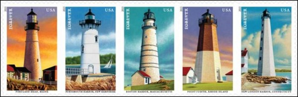 U.S. Postal Service's New England Coastal Lighthouses Series