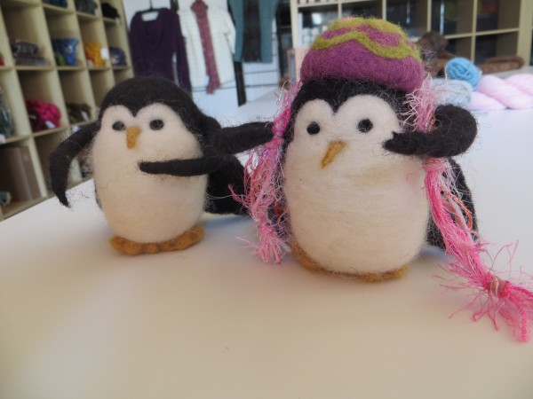 Sandy Spiller made these two felted penguins, which are a great favorite of her friend and creative companion, Patti Lewis.