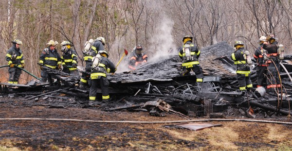 Firefighters from several towns fought a barn fire along River Road in Orrington on Thursday.